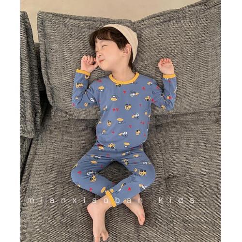 韓版童裝-CA-1012-015-睡衣套裝(上衣+褲子)