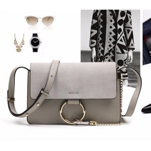 時尚優雅歐美風麂皮圓環斜揹鏈條包-VKS318-包包