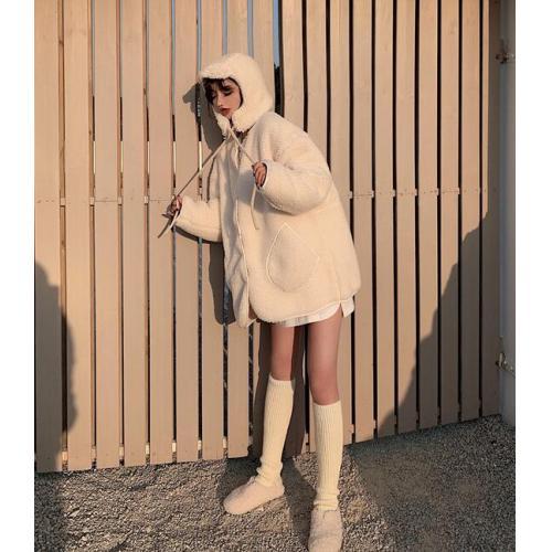 韓版女裝-CA-1123-060-外套(附帽子)
